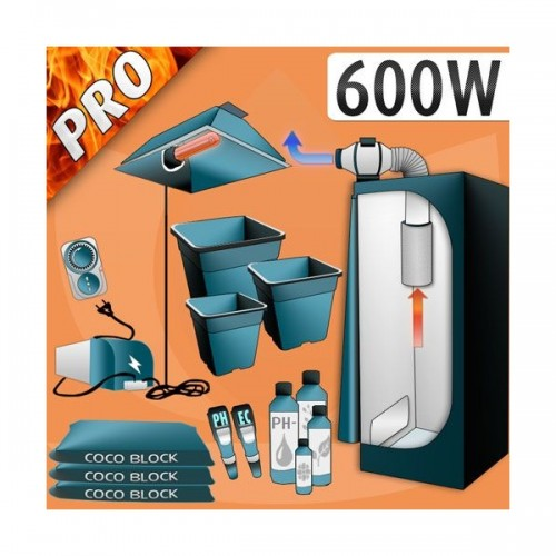 Kit Cocco 600W + Grow Box - Pro