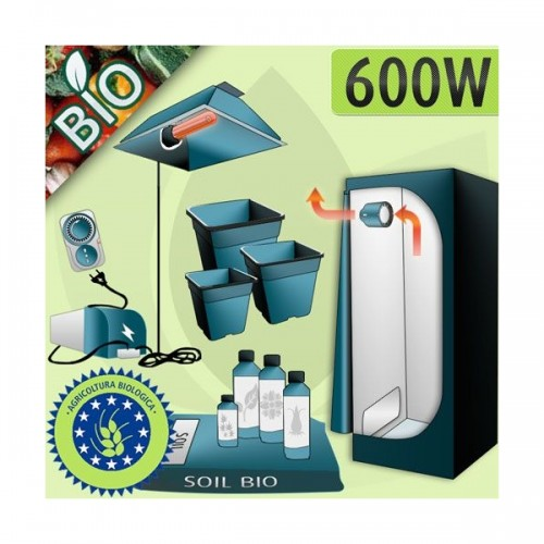 Kit Bio 600W + Grow Box Indoor Completa